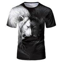 남자 티셔츠 사자 유니섹스 티셔츠, 패턴, 맞춤형 큰 크기, 눈길을 끄는 패션 티셔츠