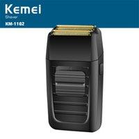 Kemei KM-1102 Erkekler için Şarj Edilebilir Tıraş Makinesi Yüz Bakımı İşlevli Shavesr Erkek Güçlü Seç