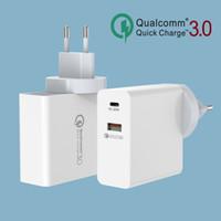 Зарядное устройство 48W на стене 30W PD3.0 зарядки + 18 Вт QC3.0 для 3 портов адаптера для путешествий Совместимый iPhone 11 / Galaxy S20 / S10 / S9 / LG