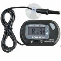 Mini Digital Fish Aquarium Thermometer-Tank mit kabelgebundener Sensorbatterie in der OPP-Tasche inklusive schwarzer gelber Farbe für die Option EWF10731