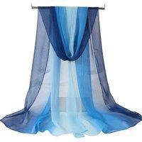 Écharpe en soie Formulaire Etiquette Elegant Mesdames Babo Long Blue Corps Entraînement Dance Gauze Adulte