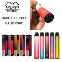 Puff Double Disposable Vape Pen 2 in 1 2000 Puffs 6ml 900mAh e cigarette Stick Dual Flav Switch System 5 Colors Are Available