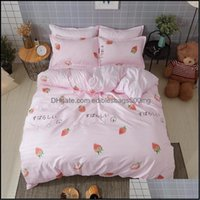Bedding Supplies Textiles Home & Gardenbedding Sets Stberry Girl Duvet Er Bed Linen Pillow Cases Comfortable Sheets Good Quality Princess St