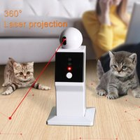 Smart Cat Interactive Toy Robot Laser Toy Auto Rotating LED Laser Teasing Cat Exercise Training Playing For USB Charging