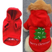 Dog Apparel Soft Fashion Jacket Coat Puppy Clothes And Sweater Thickening Christmas Costume Hooded Fleece Funny Exquisite Pet Supplies