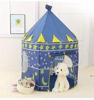 Детская палатка Play House Складной юрт Принс Принцесса Игра Замок Крытый Ползубь Комната Детские игрушки HWF9363
