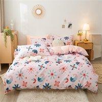 Установки постельных принадлежностей 4 шт. Набор микрофибры, 1 одеяла, 2 подушка для подушки и 1 кроватью, королева, король, близнец, полный размер, дышащий уникальный дизайн