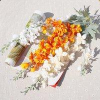 アクセサリー装飾的な花人工シミュレーションシルク2フォーク小さなツバメの千鳥の花のスクラップブックの結婚式の家の装飾