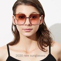 선글라스 2021 대형 펑크 여성 럭셔리 메탈 플라워 패션 남자 바로크 진주 태양 안경 UV400 NX