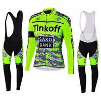 Le maglie ciclabili inseriscono il marchio Tinkoff Set da ciclismo Abbigliamento sportivo Abbigliamento professionale manica lunga MTB traspirante MTB 0708