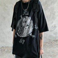 2021 Новый Латентелон Китайский Стиль Футболка Мужской Черный Лето Смешные Harajuku Tshirt Streetwear Мужчины Мода Япония Хип-хоп Футболки N9QR
