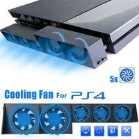 Ventilateurs de ventilateurs pour la console PS4 Ventilateur de refroidissement du réfrigérateur de réfrigérateur externe USB 5-Ventilateur Température Control PlayStation 4