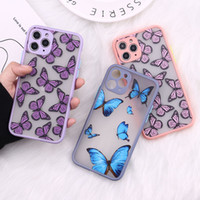 Bonito 3D Relif Capa de telefone borboleta para iPhone 11 Pro Max XR XS Max Case Silicone para iPhone 7 8 Plus 12 Pro Max Cover