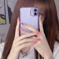 False Nails 24Pcs Fake Press On Girls Finger Beauty Nail Art Tips Blue Pink Edge Mandarin Duck Full Cover French