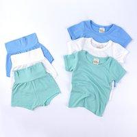 Летний мальчик одежда новорожденных сонные одежды мягкие животные шорты Pajamas дети девушки одежда костюм футболки шорты шорты шорты CZ0222C