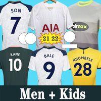 20 21 22 Dele Filho Tottenham Bale Kane Jersey Hojbjerg Bergwijn Lo Celso Spurs 2021 2022 Lucas Futebol Shirts Uniformes Men Kids Kit