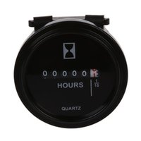 6V- 80V DC   AC Round Quartz Hour Meter Gauge for Boat Car Tr...