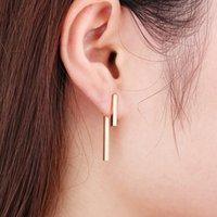 2021 New Fashion Simple T Bar Dangle Earring for Women Geometric Ear Jacket Earrings Wedding Gifts