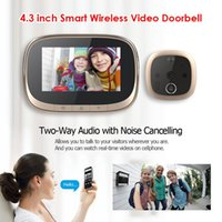 Türklingel Home Security Eye Peephol Viewer Ring Smart IP Wifi Türklingel Video Intercom 4.3 Zoll LCD Digitalkamera