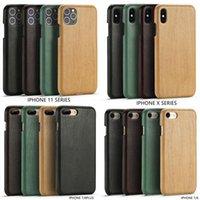 Funda de madera de patrón de madera de cuero de PU de alta clase para iPhone SE2020 11PRO MAX 7 8 PLUS