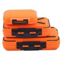 Fishing Accessories Tackle Box 12 Grids Compartments Orange Color Fish Lure Line Hook