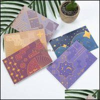 Greeting Event Festive Supplies Home & Gardengreeting Cards 6Pcs Thank You Wedding Party Invitation With Envelopes Blank Inside Postcard Fol