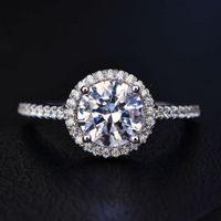 HBP mode shi pei rond bagon de diamant classique complet double rangée incrusté avec anneau de zircon, tempérament noble et élégant