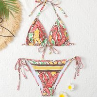 Bikini de mujer Bikini Designer Lady Colorido traje de baño Verano Sexy Chica Letra de Traje de baño Impreso