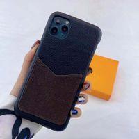 moda iPhone 12 pro máximo 11 pro max xr xs max 7/8 mais shell de couro pu com cartão para samsung s10 s10 s10 plus nota 10 20 ultra