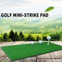 Golf Training Aids Hitting Mat Rubber Grassroots Golfs Chipping Driving Cutting Grass Mats 6 Styles