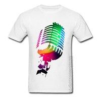 3XL Fashion Popular Cheap T Shirts The Neon Microphone Rock DJ Music Band Tee-Shirt For Men Novelty Pure Cotton Tops Tees