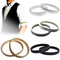 Bangle Women Anti-slip Metal Shirt Long Sleeve Holder Arm Band Stretch Garter Spring Bracelet Elastic Ring Men's Cuff Hoop
