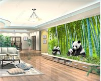 Custom photo wallpapers for walls 3d murals Idyllic bamboo forest scenery panda background wall papers home decoration