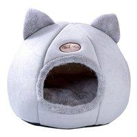 Casa de gato suave Cama cálida Tienda de cuevas con cojín extraíble Invierno Sleeping Pet Pet Pet Nest Cats Products Y200330 748 K2
