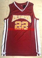 Entrenador cosido Carter Timo Cruz # 22 Richmond Movie Basketball Jersey Tamaño XS-6XL CUSTOM CUANible Número de Nombre Jerseys de baloncesto