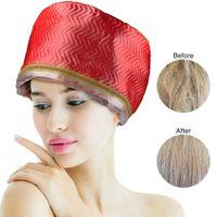 Film de soin des cheveux, capuchon d'huile, traitement thermique, protection contre la température, sèche-cheveux. J0531