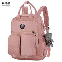 Fashion Woman Backpack Waterproof Nylon Soft Handle Solid Multi-pocket Travel Zipper Mochila Feminina Sac A Dos School Bags 211013