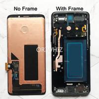 AMOLED Yedek Samsung Galaxy S9 S9 + LCD Ekran Dokunmatik Ekran Digitizer ile Çerçeve G960 G965 S9 Artı LCD