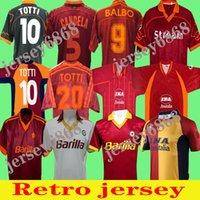 95 96 Roma Retro Soccer Jersey 00 01 02 TOTTI Classic Batistuta Candela Football Shirt خمر 2002 Maglia Da Nakata 88 89 90 91 92 93 94