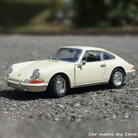 Welly 1:24 1964 Porsche 911 Bege Sports Simulation Simulação Modelo de Carro Artesanato Decoração Coleção Brinquedo Ferramentas Presente
