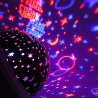 Светодиодный звездный свет вращающийся романтический звездный проекционный ламп Детская Спальня Звездный проектор Новый год Рождественский Подарок Ночь
