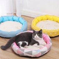 Kennels Pens super suave cama mascota perro redondo para gato mullido cómodo camas calmantes bolso de dormir de donas Kennel Puppy Sofá Casa