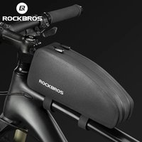 ROCKBROS Bicycle Bag Rainproof Top Front Tube Parcel Bigs Capacity Nylon Ultralight Portable Double Zipper Pocket Bike Accessory
