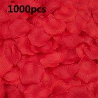 1000pcs boda pétalos de rosa pétalos de boda pétalos de rosa de seda colorido flor artificial accesorios de boda