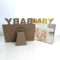 Frames and Mouldings Blank Sublimation BABY P o Frame Wooden Thermal Transfer Phase Plate Family Personalized Gift M DREAM B ZEG M03D