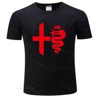 뜨거운 남자 브랜드 티셔츠 여름 티셔츠 코튼 여름 캐주얼 F1 자동차 스타일링 Alfa Romeo 남성 티셔츠 유로 크기