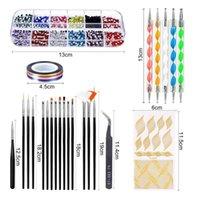 Nail Art Kits 1Set Pen Sequins Wide Application Fun Acrylic Drawing Liner Glitter Set For Women