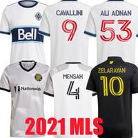 2021 2022 Columbus Vancouver Whitecaps Futbol Formaları Zardes Mensah Nagbe Santos Zelarayan MLS Mens Futbol Gömlek 20 21 Cavallini Üniformaları