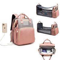 Diaper Bags Large 3 In 1 Mom Bag For Baby Maternity Mommy 25-30l Can Sleep Outdoor Trave Backbag Torba Dla Mamy Kid Bed