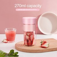 270ML MIni Juice Cup Outdoor Portable 1200mAh Battery USB Charging Juice Blender Fruit Jucer Fruit Vegetable tools Sea Shipping WWA175